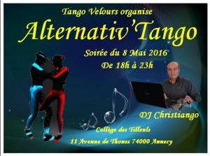 Soirée du 8 Mai 2016 Alternativ'Tango